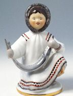 Lomonosov Porcelain Figurine Yakut with Fish