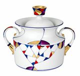 Lomonosov Porcelain 'Kaleidoscope' Sugar Bowl