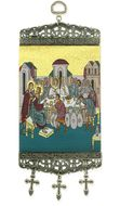 "Marriage at Cana, Tapestry Icon Banner, `10"" H"