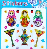 Matreshka and Balalaika Stickers, 5 Packs