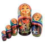 Firebird, Russian Fairy Tale Matreshka, 5 Nesting Collectible Doll, 7""