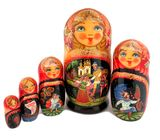 Matreshka 5 Nesting Collectible Doll, Fairy Tales, 7""