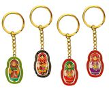 Matreshka Key Chain, Reversible, Set of 4