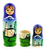 Matreshka Pen Holder & Case, Blue/Green