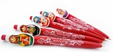 Matreshka Pens, Set of 5 pcs, Red