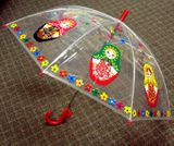 Matreshka Transparent Umbrella for Kids,  26""