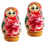 Wooden Matryoshka Magnets, Pack of 2 Pcs