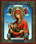 Milk Nursing Virgin Mary, Orthodox Mini Icon