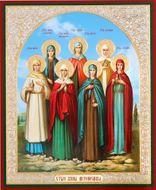 The Holy Myrrh Bearing Women, Orthodox Christian Mini Icon