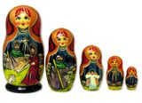 Nativity of Christ 5 Nested Wood Hand Painted Icon Dolls
