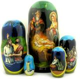 Nativity of Christ, 5 Nesting Wooden Icon Doll