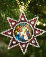 Nativity of Christ, Faberge Style Christmas Ornaments