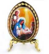 Nativity of Christ, Icon Egg with  Stand