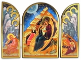 Nativity of Christ, Orthodox Triptych Icon