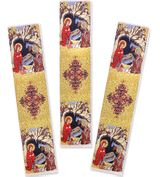 Nativity of Christ, Set of 3 Tapestry  Icon  Book Markers