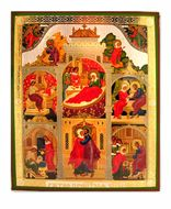 Nativity of The Virgin Mary with Feast Icons
