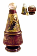 Ceramic Incense Container and Holy Water Bottle