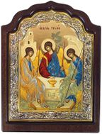 Old Testament Trinity, Orthodox Serigraph Framed Icon