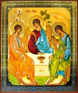 Old Testament Trinity - The Hospitality of Abraham, Orthodox Christian Icon