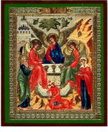 Old Testament Trinity With Abraham & Sarah, Orthodox Icon