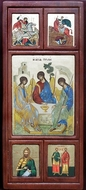 Old Testament Trinity,   Panel Serigraph Greek Icon