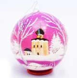 Open Up Hand Painted Wooden Ball,  Christmas Ornament
