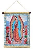 The Virgin Mary of Guadalupe, Hanging Tapestry Icon Banner