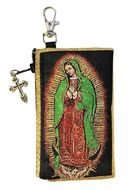 Our Lady Of Guadalupe, Tapestry Holder for Rosary with Key Chain