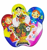 Pack of 6 Matreshka Magnets With Samovar