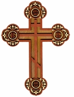 Pan Orthodox Wooden Cross, Laser Cut
