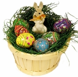 Pascha (Easter)  Gift Set with 6 Eggs & Porcelain Bunny