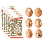 Pascha Egg Stickers, Set of 5 Packs