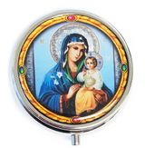 Pill Box  with Icon Virgin Mary Eternal Bloom (Virgin Mary of Flowers)