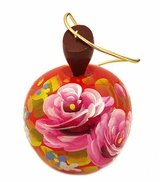 Wooden Apple,  Christmas Ornament, Assorted Colors