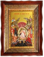 Resurrection of Christ, Orthodox Christian Icon in Wooden Kiot