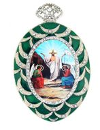 Resurrection of Christ, Framed Icon Ornament with Chain