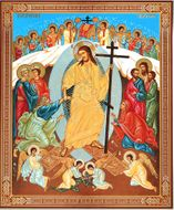 Resurrection of Christ, Gold / Silver Foiled Orthodox Christian Icon