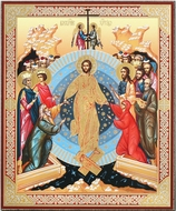 Resurrection of Christ,  Orthodox Christian Gold Foil Icon