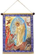 Resurrection of Christ, Decent Into Hell, Hanging Tapestry Icon Banner