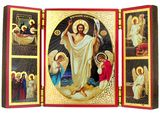 Resurrection of Christ,  Triptych Orthodox Icon Small