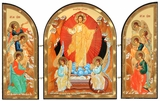 Resurrection of Christ with Guardian Angels, Orthodox Triptych Icon