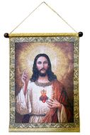 Sacred Heart of Jesus Christ, Hanging Tapestry Icon Banner