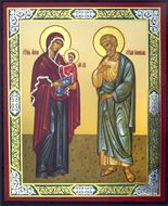 Saint Anna and Saint Joachim, Parents of Virgin Mary, Mini Icon
