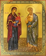 Saint Anna and Saint Joachim, Parents of Virgin Mary, Orthodox Icon