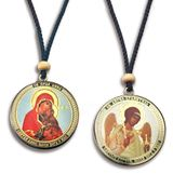 Saint Anna / Guardian Angel Reversible Icon on  Rope