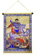 Saint George, Hanging Tapestry Icon Banner