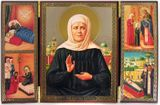 Saint Matrona, Triptych with the scenes of Matronas's life