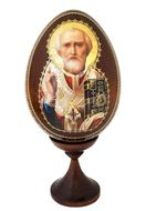 Saint Nicholas, Wooden Egg on Stand