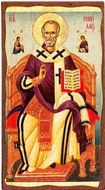 Saint Nicholas, Greek Serigraph Panel Icon