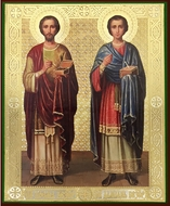 "Saints Cosma and Damian, ""The Healers"", Orthodox Christian Icon"